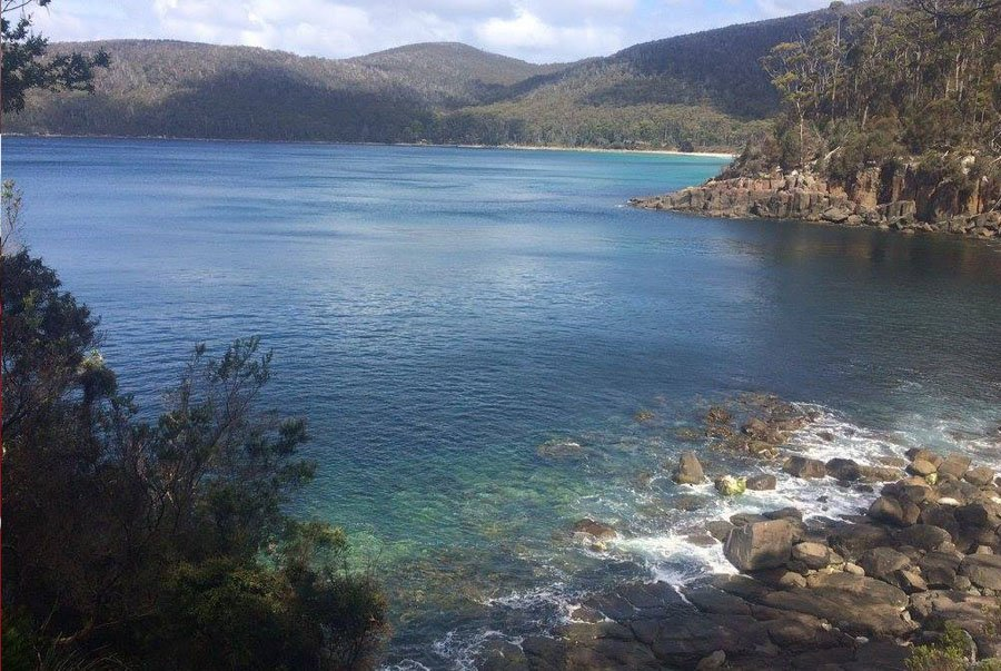 Looking back at pretty Fortecue Bay