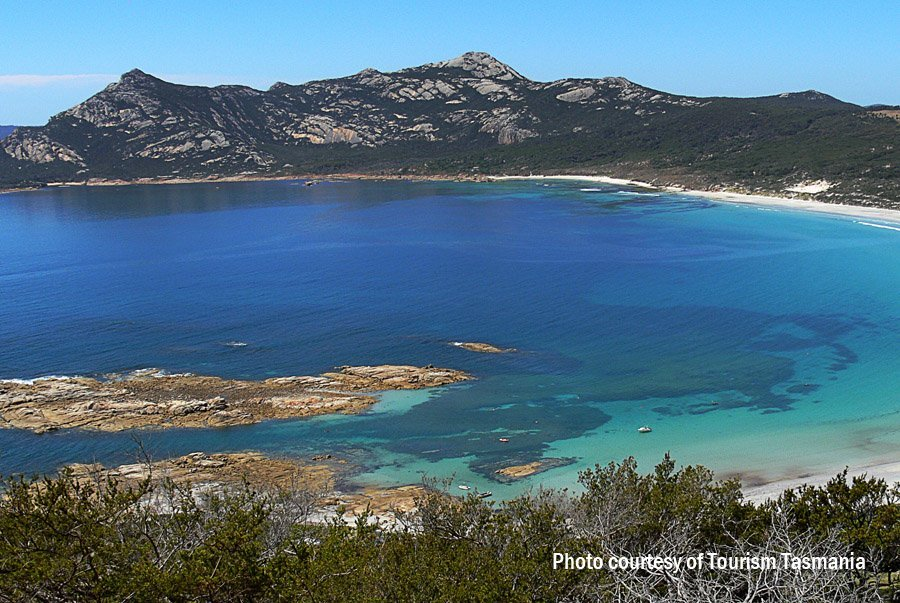 Killiecrankie Bay looking from Killiecrankie Bluff, Flinders Island