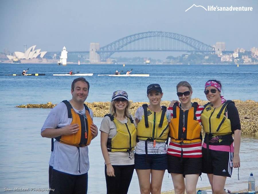 Kayaking on Sydney Harbour