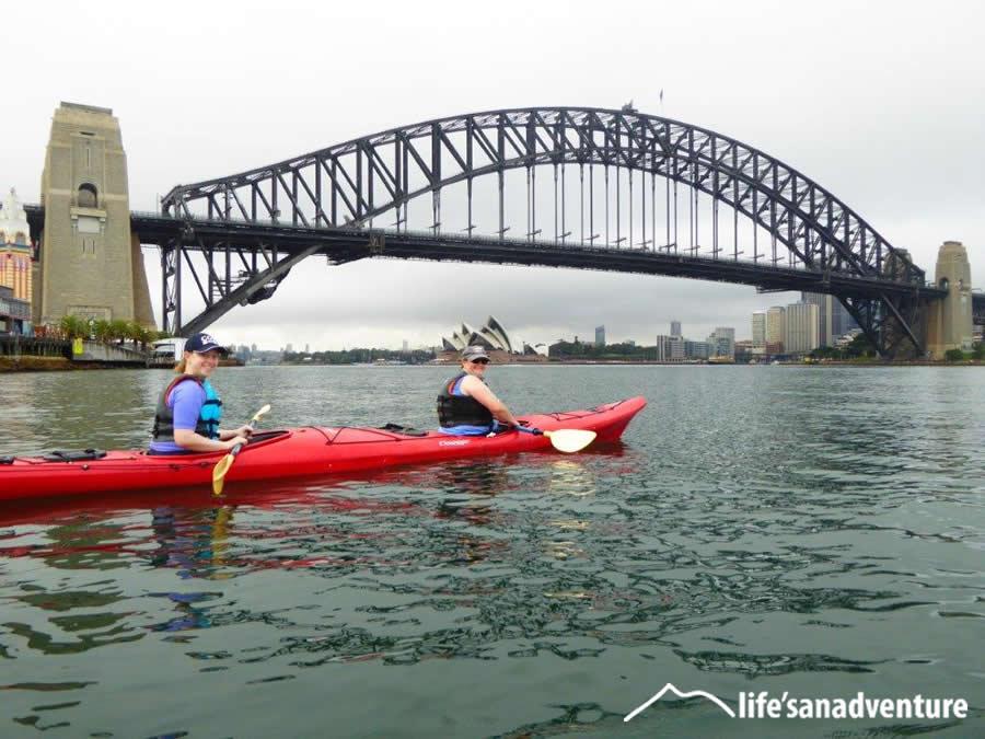 Kayak under the Sydney Harbour Bridge