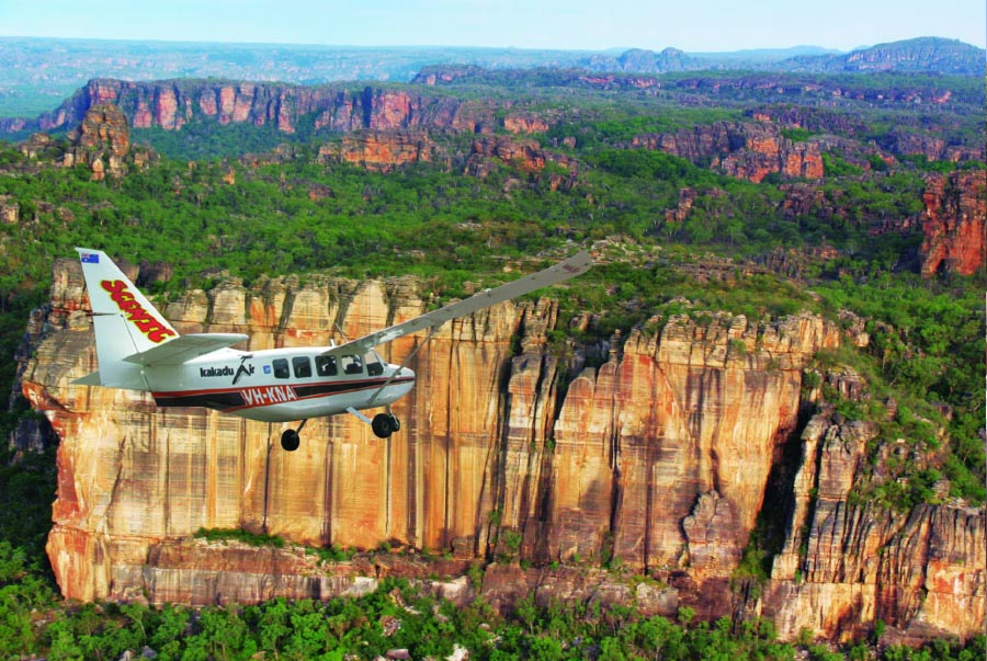 Scenic Escarpment Flight on the 7 day Top End Guided Walk