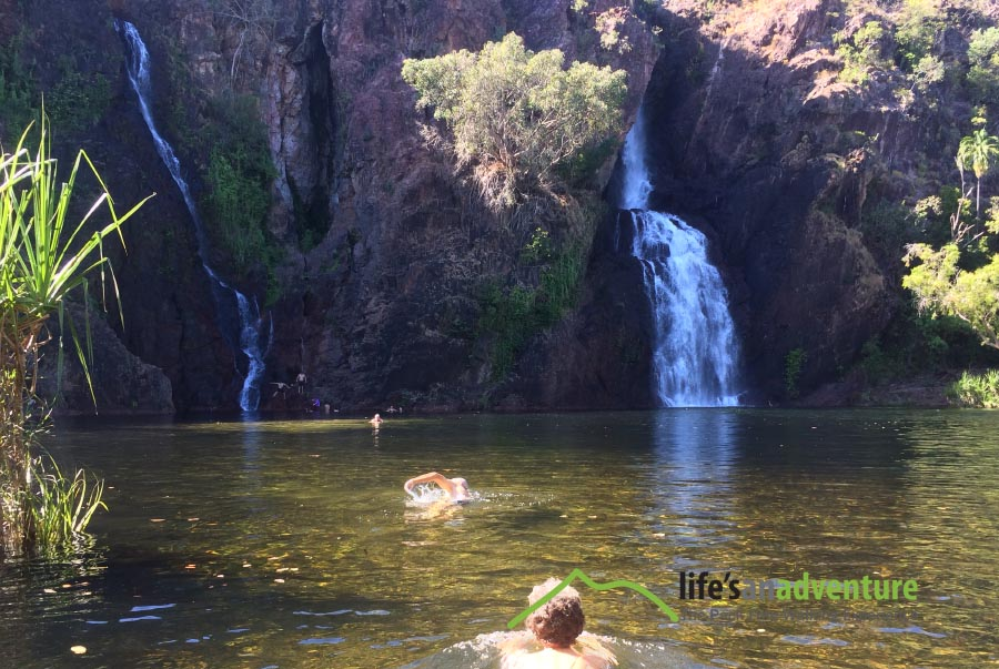 Taking a dip - Kakadu on the 7 day Top End Guided Walk