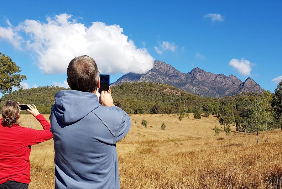 Views of Mount Barney