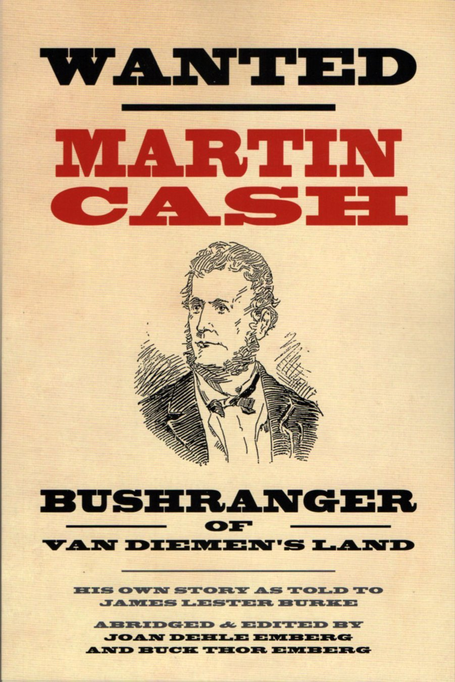 A Wanted poster for Martin Cash