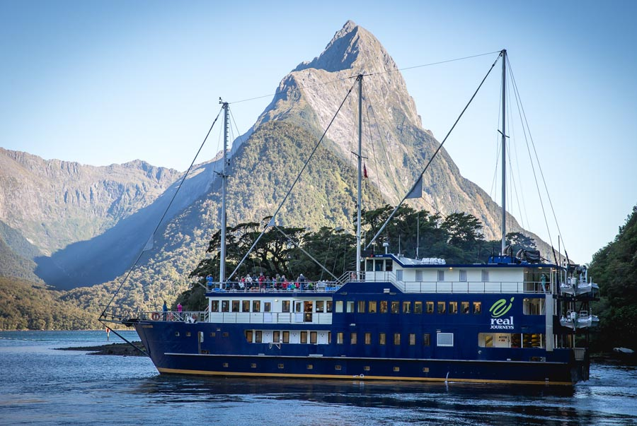 Spend the night on the Milford Mariner, Milford Sound