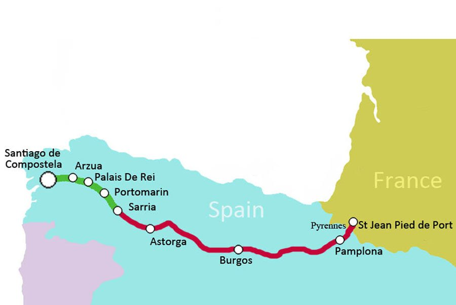 12 day Camino de Santiago walk Pyrenees France to Santiago