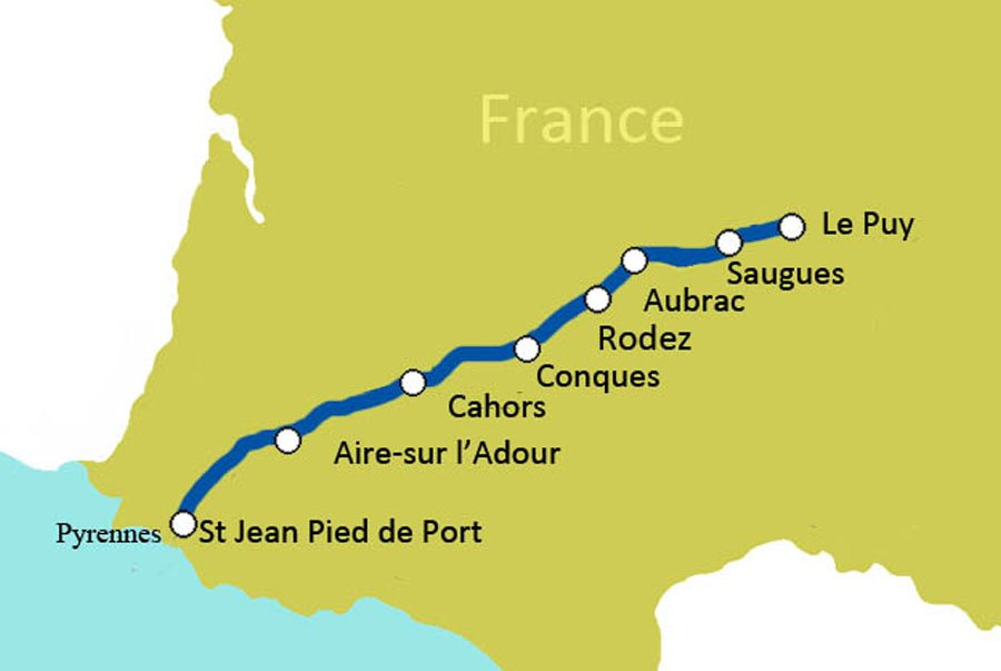8 day French Camino de Santiago Le Puy to the Pyrenees France