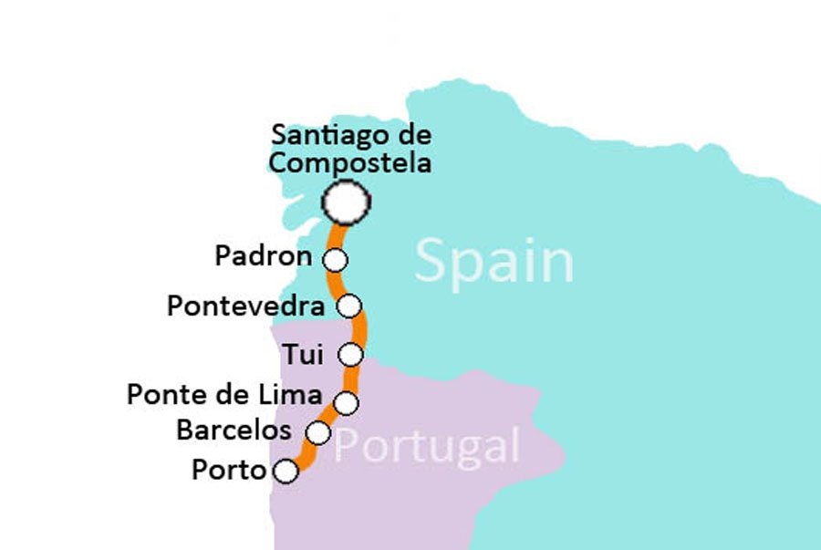 8 day Portuguese Way Camino