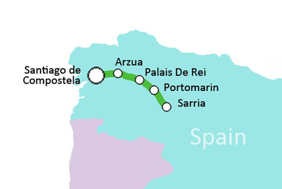 8 day Camino de Santiago walk Sarria to Santiago Spain