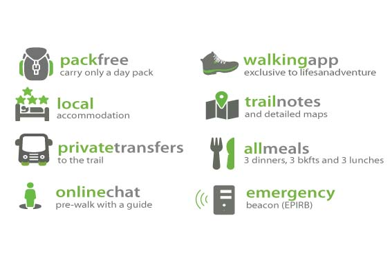 Self Guided Light to Light Pack-Free Walk