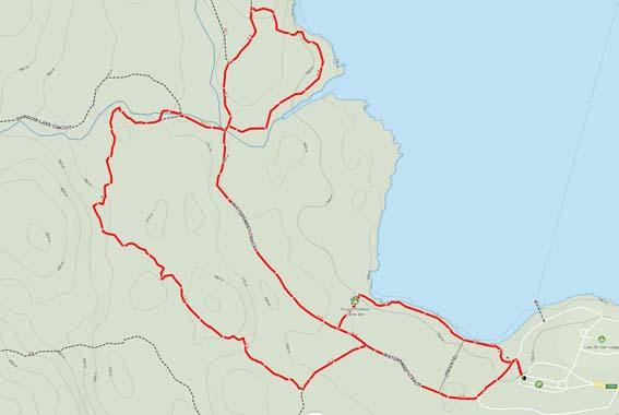 Map Cradle Mountain Watersmeet Track and Platypus Loop