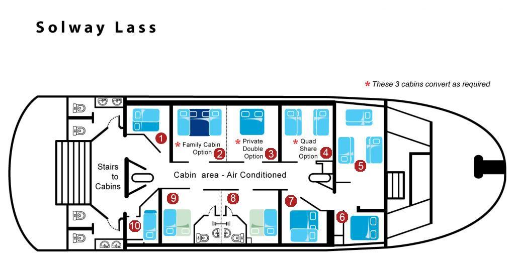 Solway Lass - Cabin Configuration