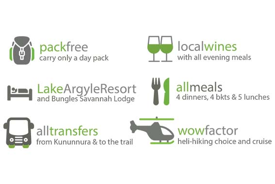 5 Day Kimberley, Bungles & Beyond Walk (Bungles & Lake Argyle)